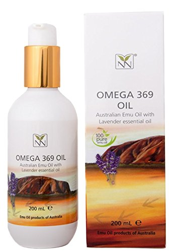 100% Pure Australian Emu Oil w/Lavender Essential Oil - 6.8 oz Bottle - The Ultimate Moisturizer for Skin, Hair, Nails, and Scalp
