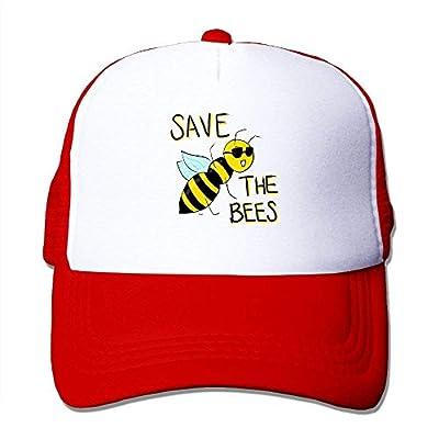 Bee Safe Baseball Cap Adjustable Snapback Custom Mesh Trucker Hat by BHUIA