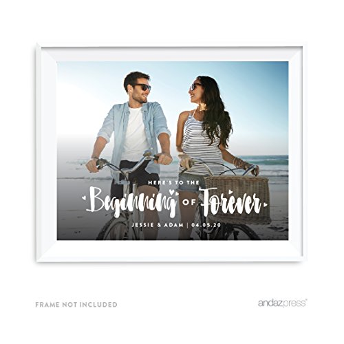 Andaz Press Photo Personalized Sun Breath Wedding Collection, 8.5 x 11-inch Party Sign or Gift Wall Art, 1-Pack, Custom Image by Andaz Press