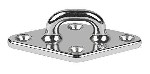 Schaefer Investment Cast Pad Eye on Diamond Base A-C/C 3-Inch (76mm) and B-C/C 1 9/16-Inch (40mm) - Cast Pad Eye