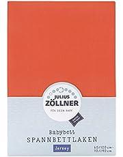 Julius Zöllner 8320147760 - Hoeslaken Jersey voor het kinderbed, grootte: 60x120/70x140 cm, kleur: koraal