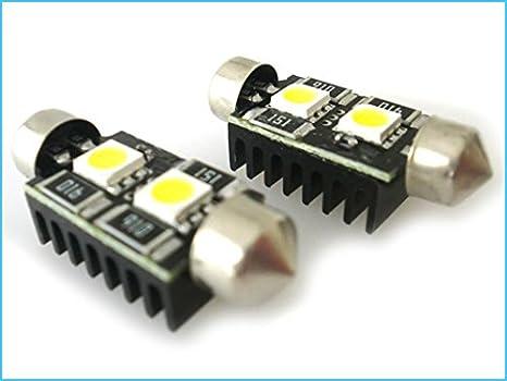 Lampadina Luci Targa : Lampada led siluro canbus no errore t11 c5w 41mm 2 smd 5050 12v luci