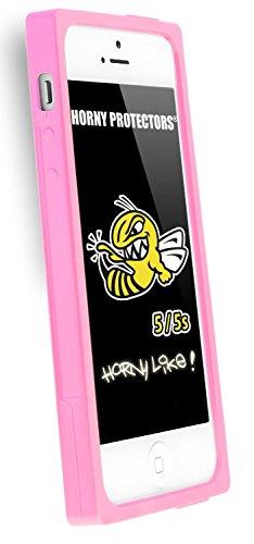 Horny Protectors® Schutzhülle Cover Case Retro Style Kassette für Apple iPhone 5/5S Rosa Silikon