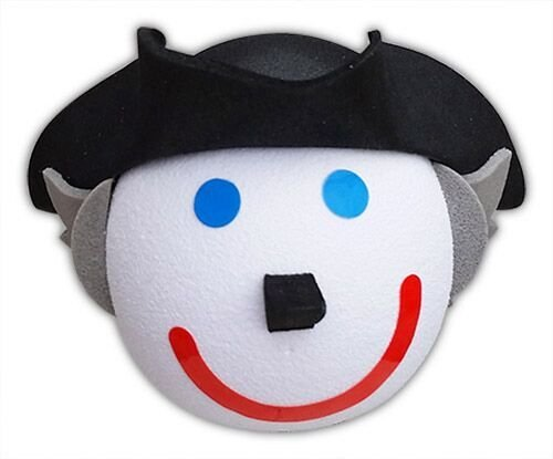 Jack in the Box - George Washington Car Antenna Topper + Yellow Smiley Antenna Ball Tenna Tops®