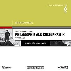 Philosophie als Kulturkritik