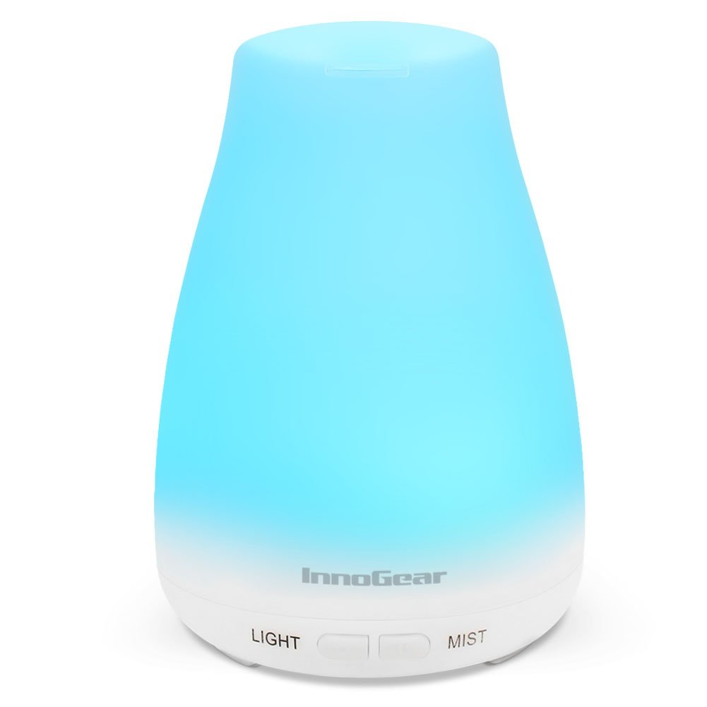 Inno Gear Upgraded 150ml Aromatherapy Essential Oil Diffuser Portable Ultrasonic Diffusers Cool Mist Humidifier With 7 Colors Led Lights And Waterless Auto Shut Off For Home Office... by Inno Gear