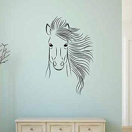 Amazoncom Nsunforest Ofelia Horse Vinyl Wall Decal Home