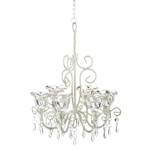 Candle Chandelier Lighting, Hanging White Chandelier Candle Light - Metal by Gallery of Light (Image #3)