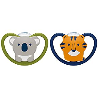 NUK Space Orthodontic Pacifiers, 6-18 Months, 2 Pack