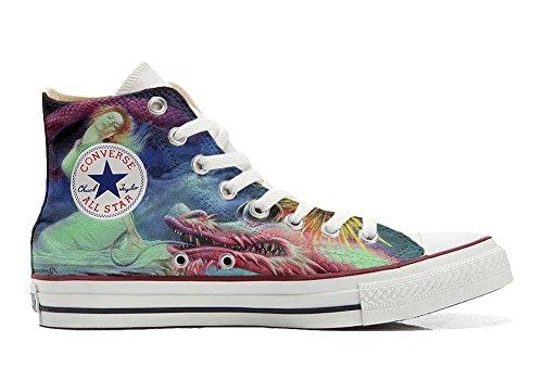 chaussures Personnalisé coutume Fata Drago Italien Imprimés Unisex Hi et produit Sneaker All Converse artisanal Star TwqagxY