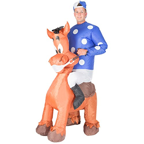 Bodysocks Adult Inflatable Jockey Fancy Dress Costume ()