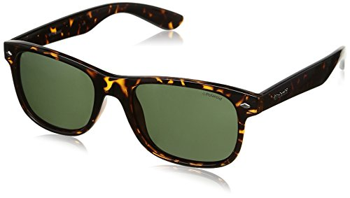 de 1015 hombre para Rectangulares sol Marrón S Polaroid Pz Havana Gafas PLD Green RgqyO1