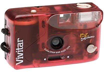 Vivitar EZ35 Colors 35mm Camera, Blue