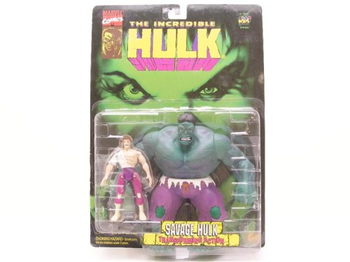 Incredible Savage Hulk With Bruce Banner And Transforming Action Figure