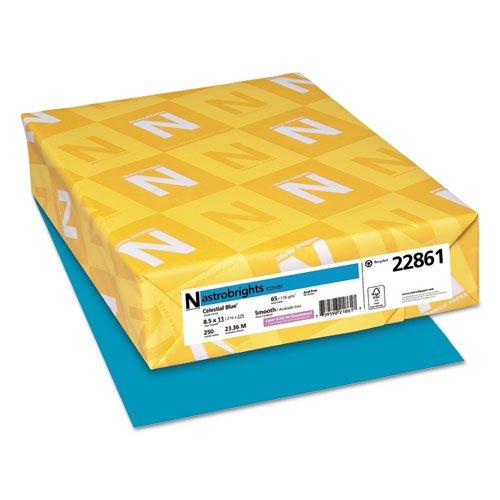 Astrobrights色付きカードストック、65 lb。、8 – 1 / 2 x 11、Celestialブルー、250シートby : Neenah紙 B01FNX13TU