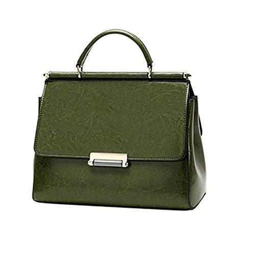 Al Para Charol Medium Hombro Verde Mujer Bolso Dissa De XzxI5wng6q
