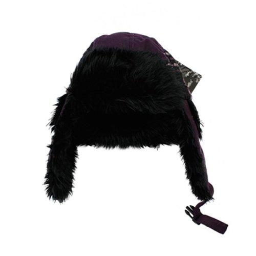 Kenmont Women's Wool Trapper Waterproof Warm Winter Hat 23.2inch Purple
