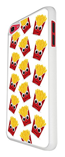 989 - Cool fun cute doodle illustration french fries junk food take away food lovers love Design For Apple ipod Touch 5 Fashion Trend CASE Back COVER Plastic&Thin Metal - White