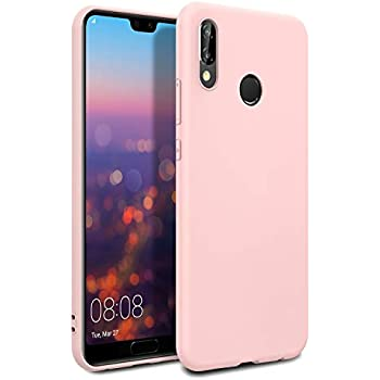 Amazon.com: Huawei P20 Case, Slim Soft Liquid Silicone Gel ...