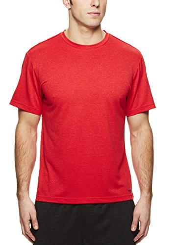 Training Top Sleeve Short (HEAD Men's Crewneck Gym Training & Workout T-Shirt - Short Sleeve Activewear Top - Star Primal Red Heather, 3X)