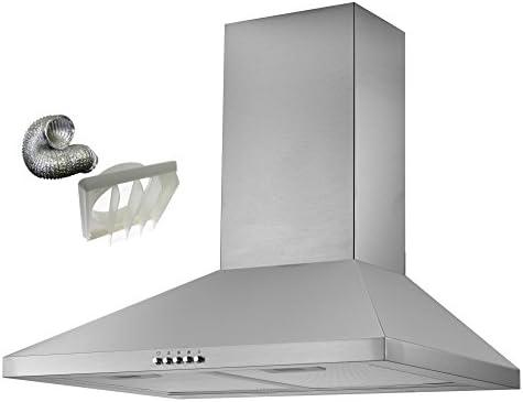 cookology cmh605ss dk1 m150 60 cm chimenea cocina capucha en acero inoxidable | | fuera de ventilación extractor de cocina Kit de ventilación incluido: Amazon.es: Grandes electrodomésticos