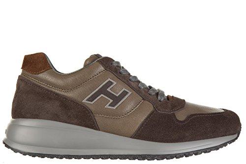 Hogan chaussures baskets sneakers homme en cuir interactive n20 marron