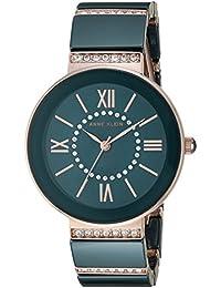 Women's AK/2832NVRG Swarovski Crystal Accented Rose Gold-Tone and Navy Blue Ceramic Bracelet Watch