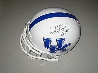 Mark Stoops Kentucky Wildcats Head Coach Signed Full Size Football Helmet COA - Autographed College Helmets