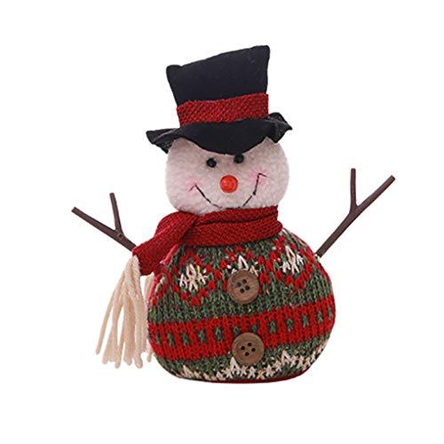 Pendant Drop Ornaments - Christmas Tree Doll Xmas Branch Stick Small Santa Tumbler Toy Hang Decoration Reindeer Snowman Desk - David Pyramid Christmas Plush Drop Plush Doll Cowboy Ornament