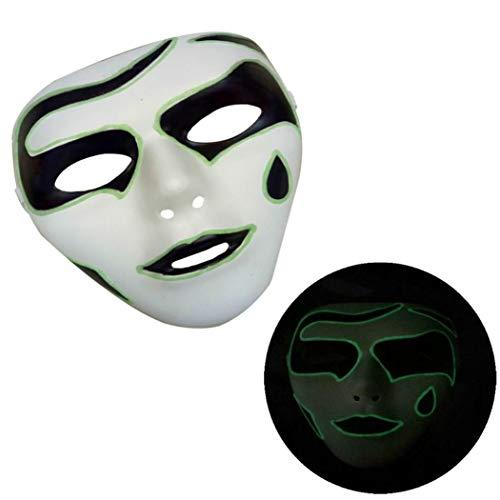 XILALU Cool Luminous Full Face Mask,Halloween Horror Skull