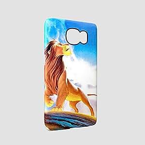 Lion King Simba Walt Disney Glossy Hard Snap-On Protective Samsung S6 Edge Case Cover