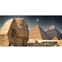 OFILA Egyptian Sphinx Photos Backdrop 10x5ft Desert Pyramid Background Night Scenery Travel Themed Party Photos Egypt Events Decor History Cultural Heritage Adult Portraits Studio Video Props