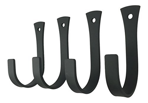- Set of 4 Wrought Iron Coat or Towel Hooks