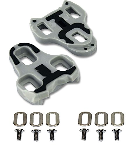 Gio Look Keo Grip Compatible Cleats Grey 4.5 Degree Float by Gio