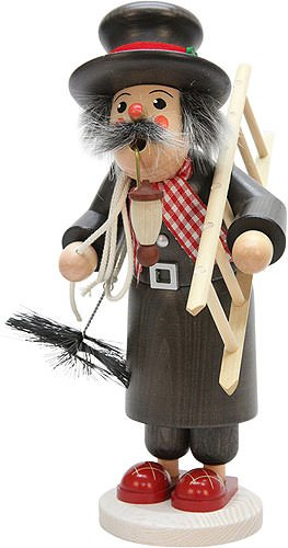German Incense Smoker chimney sweep - 28,5cm / 11.2inch - Christian Ulbricht by Authentic German Erzgebirge Handcraft