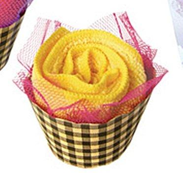 Rosa amarilla de la toalla de Cara/franela Rose Original presentado en una caja de regalo perfecto para entrega: Amazon.es: Hogar