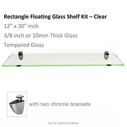 12 inch floating glass shelves - 6