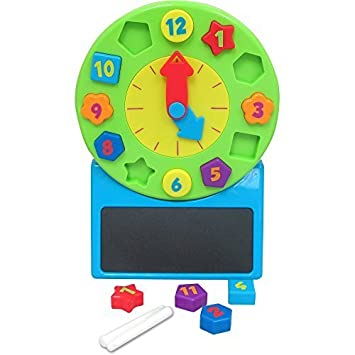 Telling Time Clock by Spark Create Imagine: Amazon.es: Juguetes y ...
