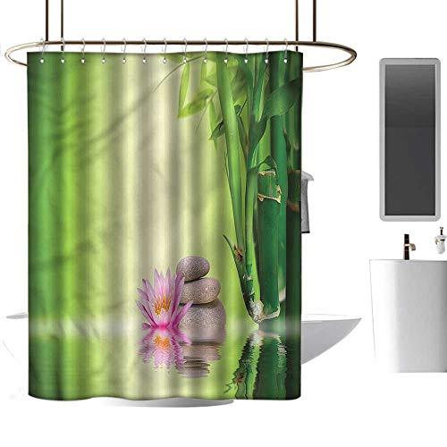 (TimBeve Shower Curtain Spa,Zen Garden Peaceful Mind,Washable,Waterproof,Mildew Resistant,Anti Bacterial)
