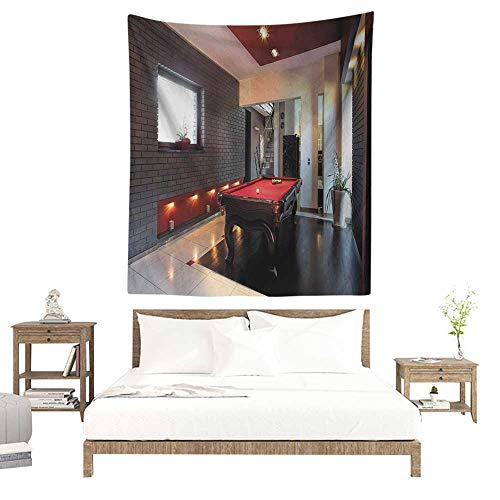 Regency House Living Room Furniture - WilliamsDecor Hall Tapestry Modern House with Snooker Table Hobby Pool Game Flat Furniture Leisure Time Print 51W x 60L INCH Suitable for Living Room, Bedroom, Beach