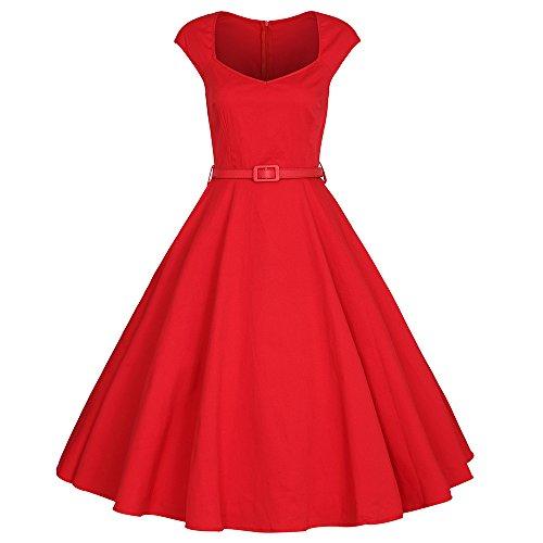 VOGMATE Damen Kleid Rot
