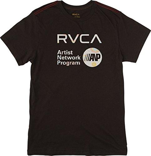 RVCA Men's ANP Fill Short Sleeve T-Shirt, Black, (Fill Short Sleeve T-shirt)