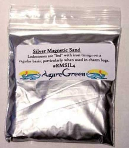 Raven Blackwood Fortune Telling Silver Magnetic Sand Lodestone Food Feed Your Offerings Success Charms Mojo Bags 1Lb by Raven Blackwood (Image #1)
