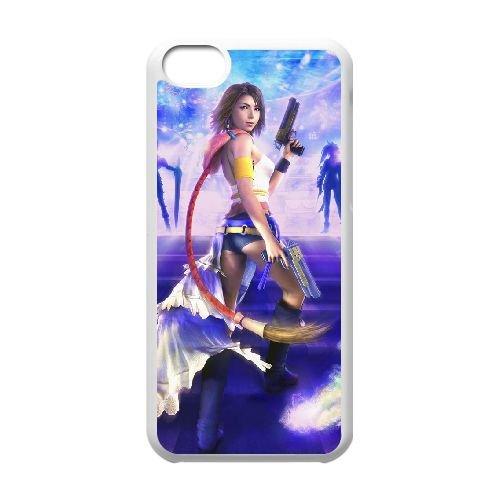 Y5K62 final fantasy cas de téléphone F5A8WE coque iPhone 5c cellulaire couvercle coque blanche HX1UKM5DK