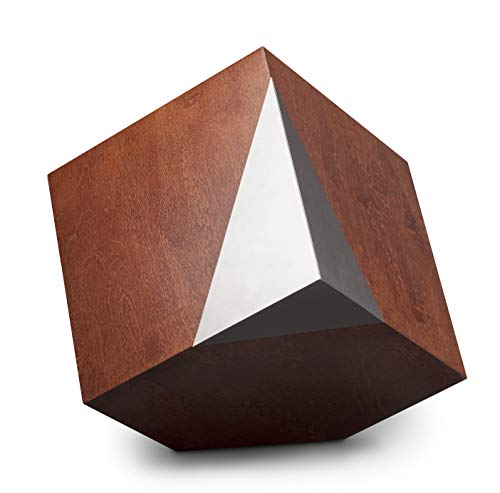 Gregspol Ltd Modern Geometric Cremation Urn, Artistic Funeral urn,Memorial for Adult Ashes (Companion Urn) (Walnut)