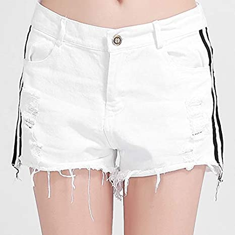 1b6673fff70 Image Unavailable. Image not available for. Color  GOP Store Korea Women  Plus Size Women s Summer Shorts Ladies Denim Shorts Sandy ...