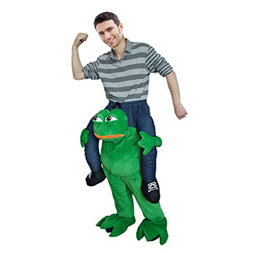 (Carry The Sad Frog Ride on Piggy me Mascot Costume Dress Suit)