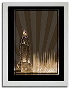 Address Hotel Down Town- Sepia No Text F03-nm (a2) - Framed