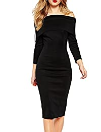 Women's Sexy Off the Shoulder Bodycon Dress