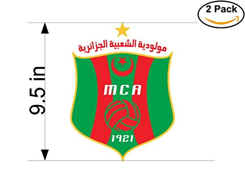 fan products of Mouloudia Club d Alger Algeria Soccer Football Club FC 2 Stickers Car Bumper Window Sticker Decal Huge 9.5 inches